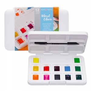 Набор акварельных красок VAN GOGH Pocket box VIBRANT COLOURS пластик Royal Talents