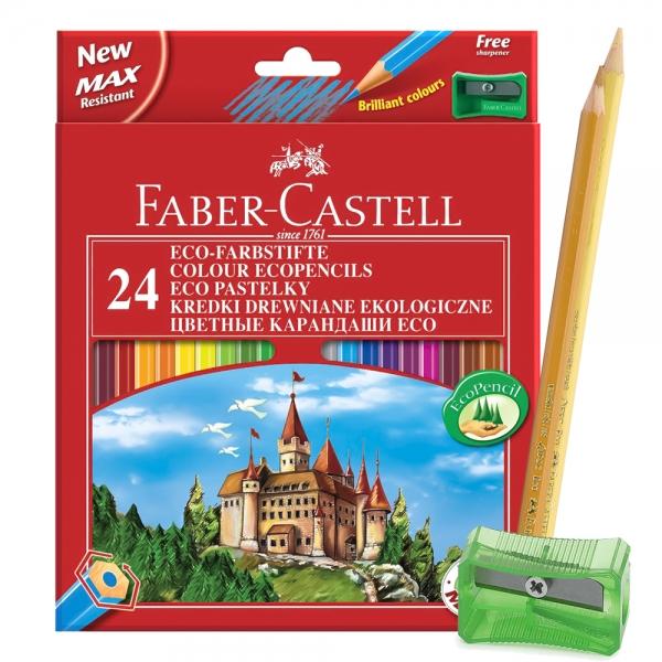 Цветные карандаши Faber Castell ECO ЗАМОК 24 шт