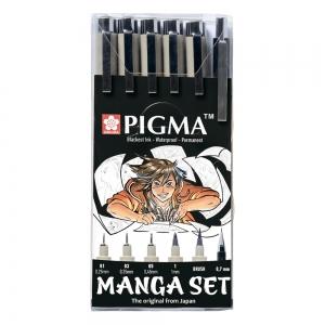 Набор линеров для манги MANGA PIGMA TOOL SET 6шт Sakura