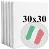 Набор холстов Monet среднее зерно 30*30 см итальянский хлопок 335 г/м (5 шт.)