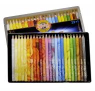 Карандаши цветные MAGIC 23 шт+блендер  в металлической упаковке (+ подарок)