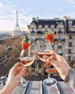Картина по номерам BrushMe 40*50см Бокалы Парижа (PGX24907)