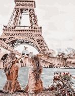Картина по номерам BrushMe 40*50см Встреча с видом на Эйфелеву башню (PGX30103)