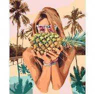 Картина по номерам Идейка 40х50см Сочный ананас (КНО4629)