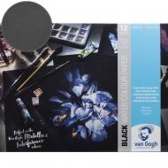 Склейка-блок для акварели Van Gogh 360г/м2, 29,7*21см, 100% целюлоза 12л черная бумага Royal Tale