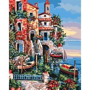 Картина по номерам Идейка 40х50см Морской пейзаж Южные цвета (КНО2735)