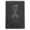 Альбом для графики SMILTAINIS AUTHENTIC черная бумага 20л А5 165г/м2