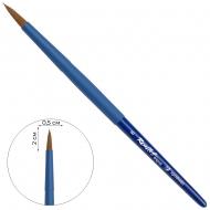 Кисть синтетика коричнева круглая Roubloff aqua soft-touch №6 (Blue round - 6)