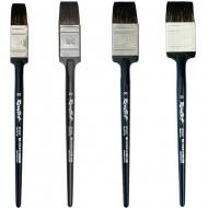 Кисть флейц синтетика имитация белки Roubloff 5F25C плоская №35 деревянная ручка
