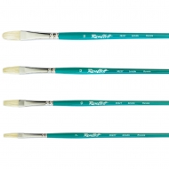 Кисть щетина Roubloff Master 3622T плоская длинная бирюзовая ручка в ассортименте