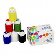 Набор акриловых красок ROSA START для декора, глянцевые 6 цветов 20 мл