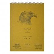 Альбом для эскизов крафтовая бумага SMILTAINIS AUTHENTIC (Kraft) А5 60л 90г/м2