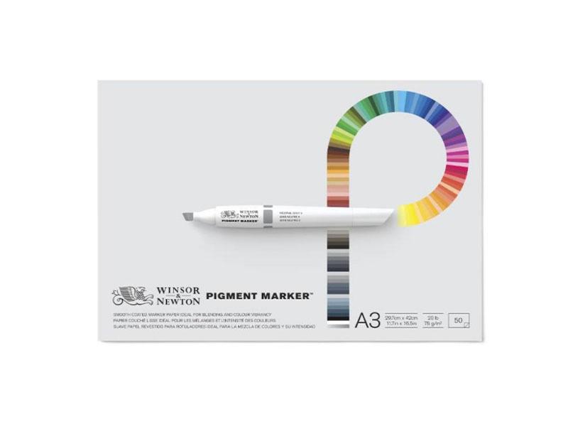 Склейка Pad для маркеров Pigment marker, A3, 28х35,6 см, W&N, 50 л