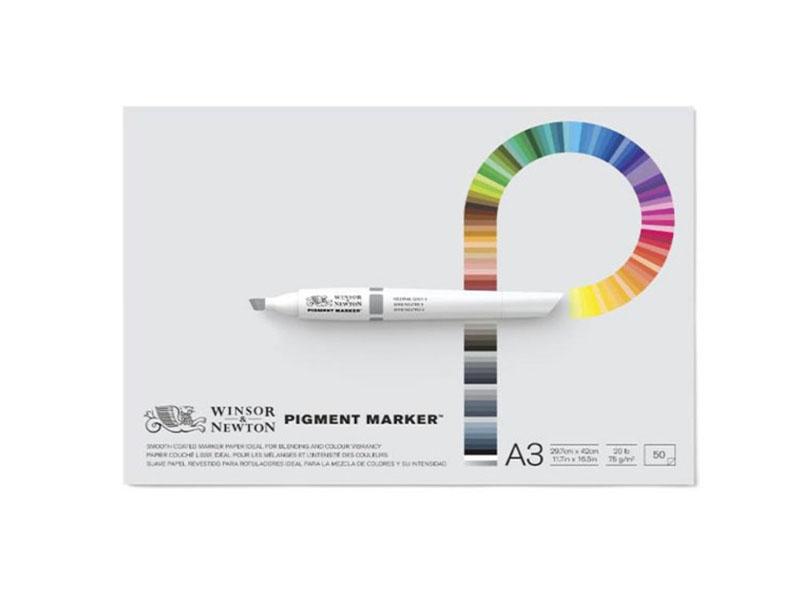 Склейка Pad для маркеров Pigment marker, A4, 22,9х30,5 см, W&N, 50 л