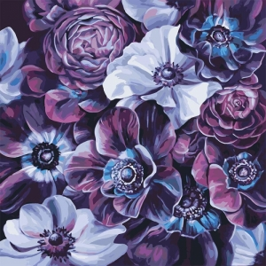 "Картина по номерам Идейка 40х40см ""Пурпурное разнообразие"""