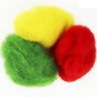 """Набор шерсти для валяния """"Ассорти"""" 3 цвета по 10 г (K3004, K2003, K5006)"""