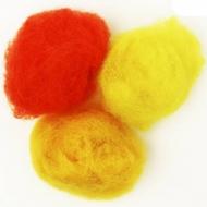 """Набор шерсти для валяния """"Желтые оттенки"""" 3 цвета по 10 г (K2003, K2009, K3006)"""
