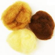 """Набор шерсти для валяния """"Натуральные оттенки"""" 3 цвета по 10 г (K2005, K2020, K2012)"""