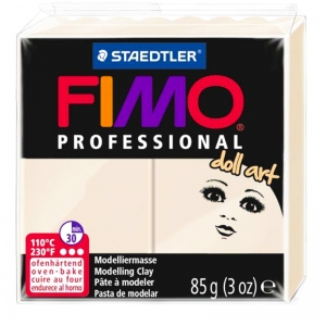Пластика professional doll art бежевая 85г Fimo