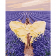Картина по номерам BrushMe 40*50см Очарование в лавандовом поле (GX27958)