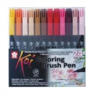 Набор маркеров Sakura Koi Coloring Brush Pen, 24 цвета