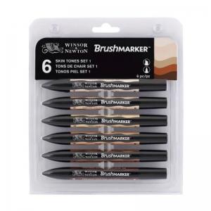 Набор двухсторонних маркеров,Winsor&Newton Promarker, Телесные тона, 6 цветов