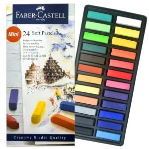 Пастель мягкая 24 цвета 1/2 мелка GOLDFABER FABER-CASTELL