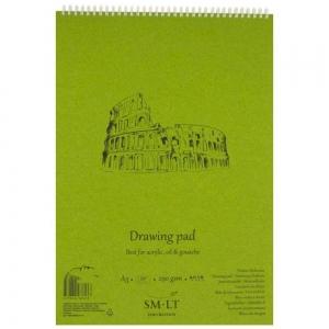 Альбом для акрила и масла на спирали AUTHENTIC (DRAWING) А3 290г/м2 20л SMILTAINIS