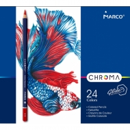 Набор карандашей шестигранных Marco Chroma 24 цвета в метал.пенале (8010-24TN)