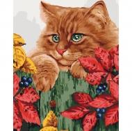 Картина по номерам Идейка 40х50см Рыжее счастья (КНО4091)