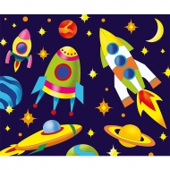 Роспись по холсту Идейка 25*30 см Ракеты в космосе (7155/2)