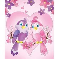 Роспись по холсту Идейка 25*30 см Романтические птицы (7158/2)