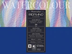 Склейка-блок для акварели Watercolor A5 (18х24см), 200г/м2, 20л, среднее зерно, Fabriano
