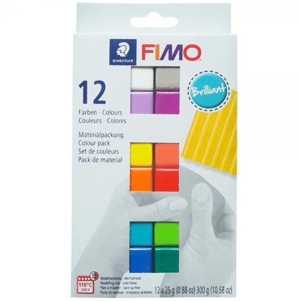 Набор пластики Fimo 12х25гр Brilliant Colours (8023C12-2)