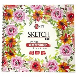 Альбом для эскизов Santi Paper Watercolour Collection 31*29см 10л