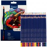 Набор карандашей шестигранных Marco Chroma 36 цветов (8010-36CB)