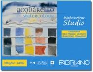 Склейка для акварели Watercolor Studio A4 (27х35см), 300г/м2, 75л, среднее зерно, Fabriano