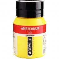 Краска акриловая AMSTERDAM (275) Прозрачный желтый средний 500 мл Royal Talens (17722752)