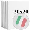 Набор холстов Monet среднее зерно 20*20 см итальянский хлопок 335 г/м (5 шт.)