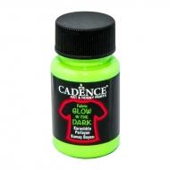 Cadence люминесцентная акриловая краска для ткани Fabric Glow In The Dark 50 мл Зеленый