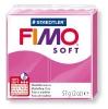 Полимерная глина (пластика) Fimo Soft, 57г, Малиновая