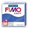 Полимерная глина (пластика) Fimo Soft, 57г, Синяя блестящая