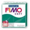 Полимерная глина (пластика) Fimo Soft, 57г, Изумрудная зеленая