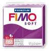 Полимерная глина (пластика) Fimo Soft, 57г, Фиолетовая