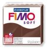 Полимерная глина (пластика) Fimo Soft, 57г, Шоколадная