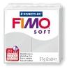 Полимерная глина (пластика) Fimo Soft, 57г, Серая