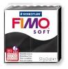 Полимерная глина (пластика) Fimo Soft, 57г, Черная