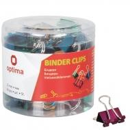Биндер для бумаги Optima 15 мм цветные в пласт тубусе 60 шт