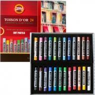 Мел-пастель TOISON D'OR, 24 цвета, KOH-I-NOOR