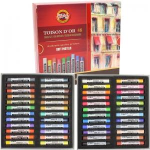 Мел-пастель TOISON D'OR, 48 цветов, KOH-I-NOOR
